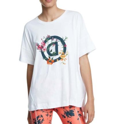 Camiseta Casual Mujer DESIGUAL Tshirt Oversize Gardens Logo
