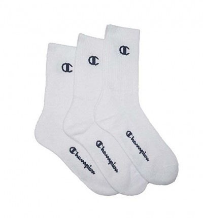 Calcetines Casual_Unisex_CHAMPION Crew Socks One Color X3