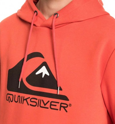 Hoodie Sudadera Capucha Casual QUIKSILVER Square Me Up Screen Fleece