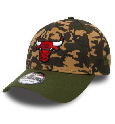 Gorra / Visera Casual_Unisex_NEW ERA Camo Team Stretch Chicago Bulls