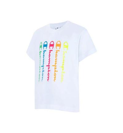 Camiseta M/c Casual_Niña_CHAMPION Camiseta Cuello Caja
