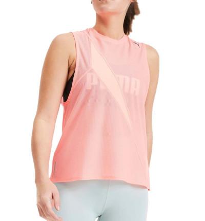 Camiseta Sin Mangas Fitness PUMA Train Pearl Mesh Tank