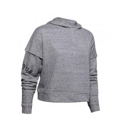 Hoodie Sudadera Capucha Casual_Mujer_UNDER ARMOUR Rival Terry 1/2 Zip Hoodie