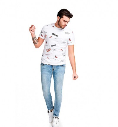 Camiseta M/c Casual_Hombre_GUESS Diner Cn Ss Tee