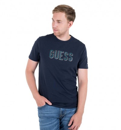 Camiseta M/c Casual_Hombre_GUESS Deal Cn Ss Tee