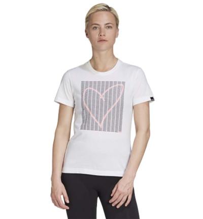Camiseta M/c Casual_Mujer_ADIDAS W Adi Heart T