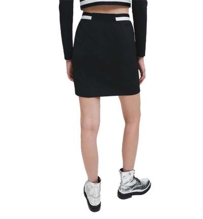 Falda Casual_Mujer_CALVIN KLEIN Zip Monochrome Milano Skirt