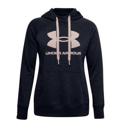 Hoodie Sudadera Capucha Casual_Mujer_UNDER ARMOUR Rival Fleece Logo Hoodie