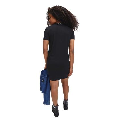 Vestido Casual_Mujer_CALVIN KLEIN Ck Logo Trim T-shirt Dress