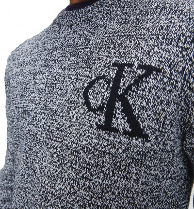 Sudadera Casual_Hombre_CALVIN KLEIN Twisted Yarn Ck Logo Sweater