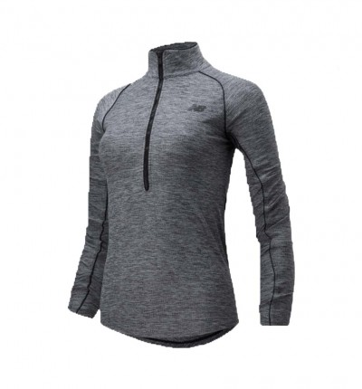 Camiseta M/l Running_Mujer_NEW BALANCE Transform 1/2 Zip