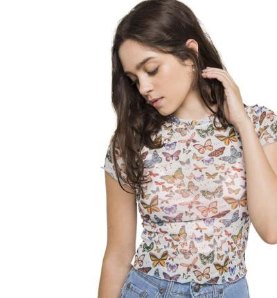 Camiseta M/c Casual_Mujer_KAOTIKO M/c Tul