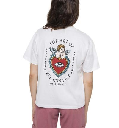 Camiseta M/c Casual_Mujer_KAOTIKO M/c Eyes Talk