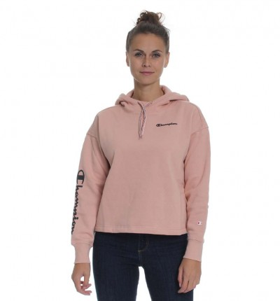 Hoodie Sudadera Capucha Casual_Mujer_CHAMPION Hooded Crop Top