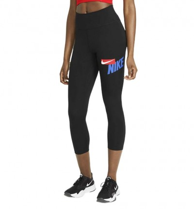 Mallas Largas Fitness_Mujer_Nike One Cropped Graphic
