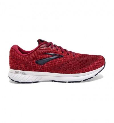 Zapatillas Running_hombre_brooks Revel 3 M 44 Rojo