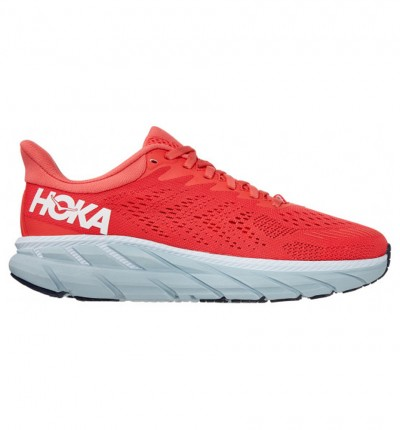Zapatillas Running_mujer_hoka Clifton 7 W 38 Rojo