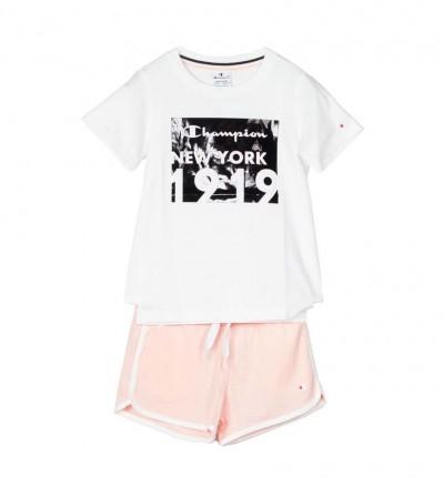 Conjunto - Short & Shirt Casual_Niña_CHAMPION Set