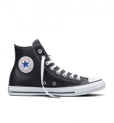 Zapatillas Casual_Unisex_CONVERSE Chuck Taylor Altas Leather Negras