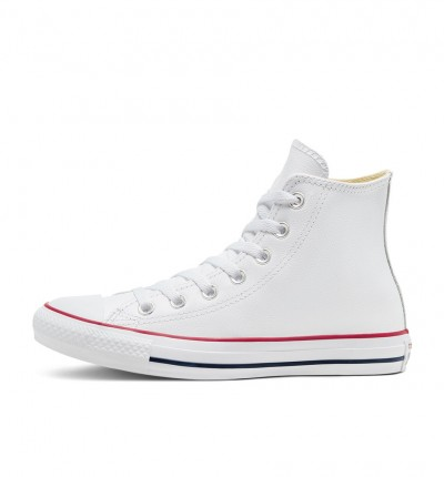 Zapatillas Casual_Unisex_CONVERSE Chuck Taylor Leather High Blancas