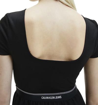 Vestido Casual_Mujer_CALVIN KLEIN Logo Waistband Dress