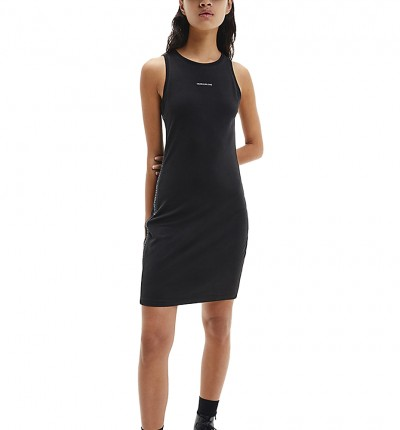 Vestido Casual_Mujer_CALVIN KLEIN Logo Trim Racer Back Dress