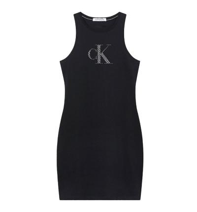 Vestido Casual_Mujer_CALVIN KLEIN Satin Bonded Racer Back Dress
