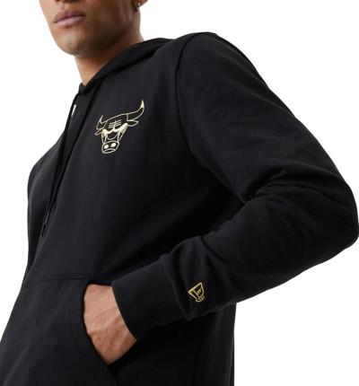 Hoodie Sudadera Capucha Casual_Hombre_New Era Chicago Bulls Black