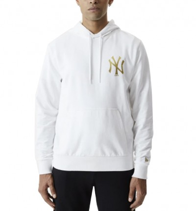 Hoodie Sudadera Capucha Casual_Hombre_New Era New York Yankees White