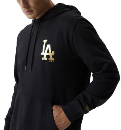 Hoodie Sudadera Capucha Casual_Hombre_New Era LA Dodgers Black