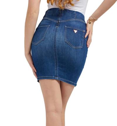 Falda Vaquera_Mujer_GUESS Ultra Midi Skirt