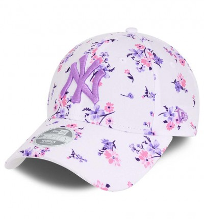 GorraCasual_Mujer_NEW ERA Wmns Floral 9forty Neyyan Whi