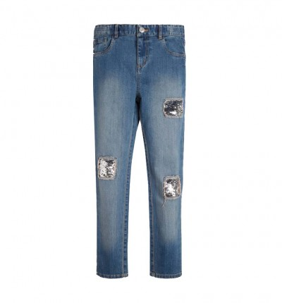 Pantalón Casual_Niña_GUESS Denim High Waist Skinny Pants