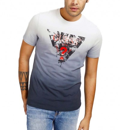 Camiseta M/c Casual_Hombre_GUESS Palm Beach Cn Ss Tee