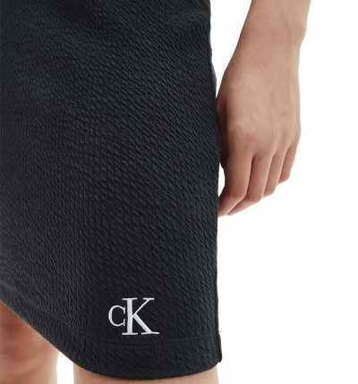 Falda Casual_Mujer_CALVIN KLEIN Slub Rib Mini Skirt
