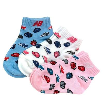 Calcetines Casual_Niño_NEW BALANCE Kids Performance Cushion Ankle Sock 3 Pair