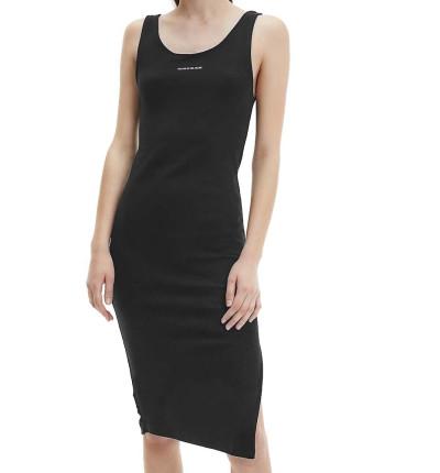Vestido Casual_Mujer_CALVIN KLEIN Micro Branding Strappy Rib Dress