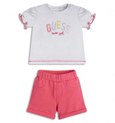 Conjunto Casual_Bebe_GUESS Set T-shirt+short Pants