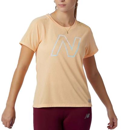 Camiseta M/c Running_Mujer_NEW BALANCE Printed Impact Run Short Sleeve