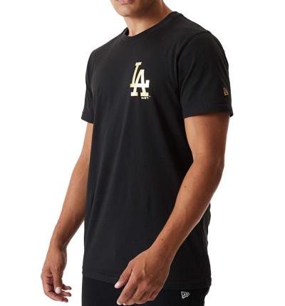 Camiseta M/c Casual_Hombre_New Era Metalic Tee Losdod Blk