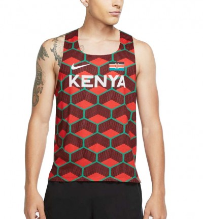 Camiseta De Tirantes Running_Hombre_NIKE M Nk Kenya Aroswft Singlet