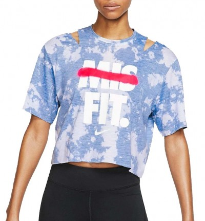 Camiseta M/c Fitness_Mujer_NIKE Icon Clsh  Ss Cp T Td Gx