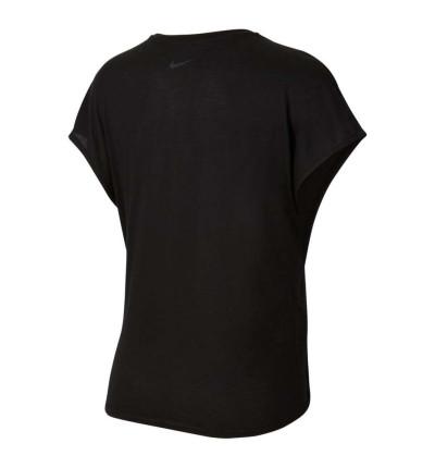Camiseta M/c Fitness_Mujer_NIKE Ss Top Tie Pp1 Sprkle