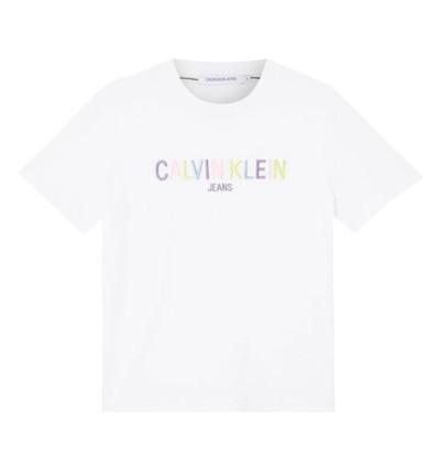 Camiseta M/c Casual_Mujer_CALVIN KLEIN Multicolored Logo Tee