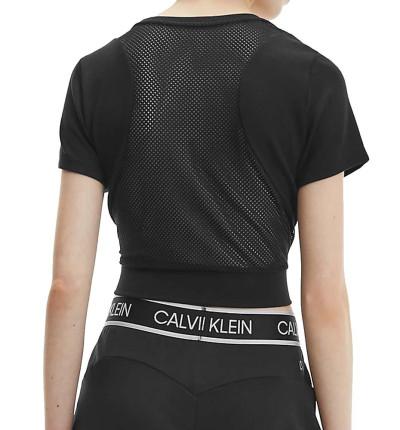 Camiseta M/c Casual_Mujer_CALVIN KLEIN Pw Mesh Back Cropped T-shirt