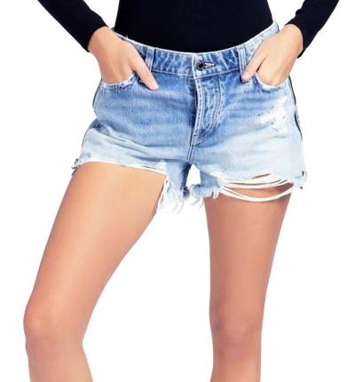 Short Vaquero_Mujer_GUESS Holly Zip Short