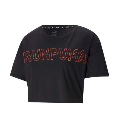 Camiseta M/c Fitness_Mujer_PUMA Run Logo Ss Tee W