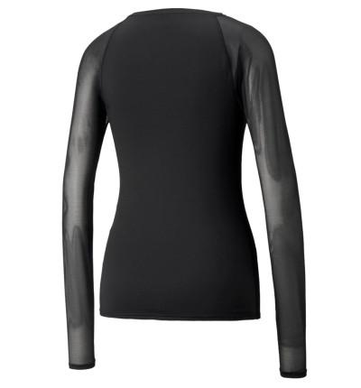 Camiseta M/l Fitness_Mujer_PUMA Studio Yogini Lt Mesh Fitted Ls