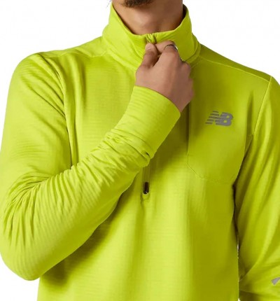 Camiseta M/L Running_Hombre_NEW BALANCE Heat Grid Half Zip