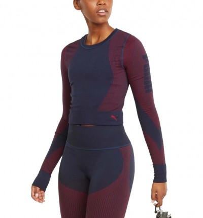 Camiseta M/l Running_Mujer_PUMA Train Seamless Fitted Long